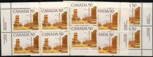 Canada - 1978 50c Prairie Street Scene Plate Blocks #723