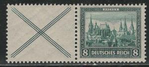 Germany Scott # B34, label X, mint nh, se-tenant, Mi# W37
