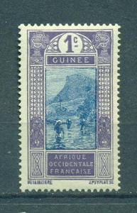 French Guinea sc# 63 (2) mh cat value $.25