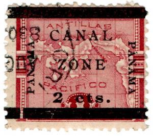 (I.B) Panama Postal : Colombia Overprint 2c (Canal Zone)