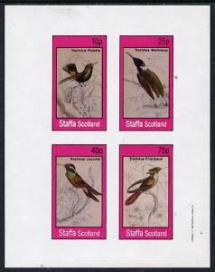 Staffa 1982 Humming Birds #07 imperf  set of 4 values (10...