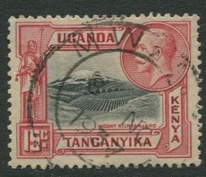 Kenya & Uganda - Scott 49- KGV Definitive -1935 - FU - Single 15c Stamp