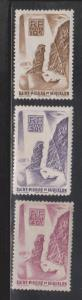 ST PIERRE & MIQUELON Scott # 324-6 Mint Hinged - Fishing Near The Rocks