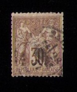 France Sc #73 Used Type I Perf Fault Lower R VF