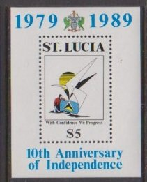 1989 St. Lucia Scott # 936 National Independence MNH