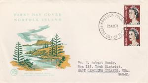 Norfolk Island #118A - QE II Coil - 1971 FDC