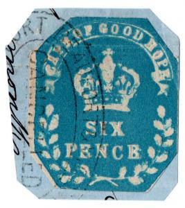 (I.B) Cape of Good Hope Revenue : Duty Stamp 6d