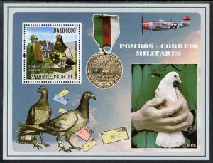 St Thomas & Prince Islands 2009 War Pigeons perf s/sheet ...