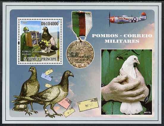 St Thomas & Prince Islands 2009 War Pigeons perf s/sheet ...