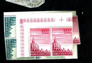 Vatican City #C33-4(4) MINT FVF OG NH Minor Toning Cat$33
