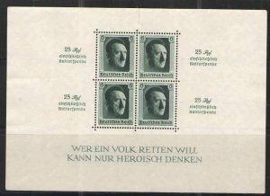 Germany - Third Reich 1937 Sc# B104 MNG G/VG - Souvenir sheet