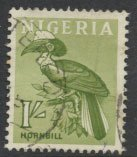 Nigeria  SG 96 SC# 108 Used 1961 Definitive Hornbill please see scan