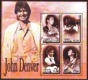 Antigua and Barbuda. 2004. 4179-82. John Denver, musician. MNH.