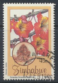 Zimbabwe SG 918  SC# 750 Used  Indigenous Flowering Trees   see detail and scan