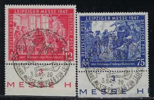 Germany AM Post Scott # 580 - 581, used, variation plate #