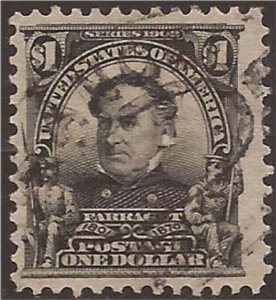 US Stamp - 1903 $1 David Farragut - VF Used Stamp - Scott #311