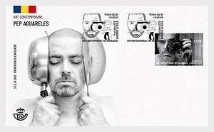The Stamps Of Andorra (Spain) 2020 Contemporary Art - Pep Aguareles - First Day
