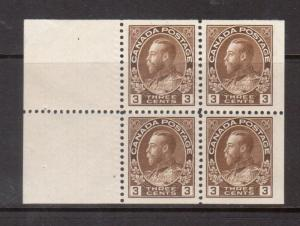 Canada #108a XF Mint Booklet Pane
