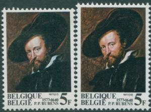 Belgium 1977 SG2497-2498 Peter Paul Rubens self-portrait MNH