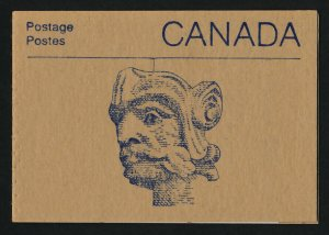 Canada 1187a Booklet BK96a Carved Head Cover MNH Parliament Buildings