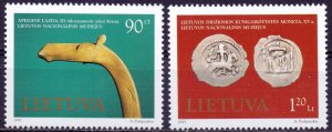 Lithuania. 1997. 645-46. museum exhibits. MNH.