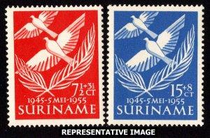 Surinam Scott B62-B63 Mint never hinged.