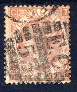 Great Britain 1880 sg 121 2/- brown, used - RARE stamp cat £4200
