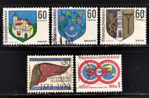 Czechoslovakia Scott 1886-88, 1889, 1907  F to VF CTO.