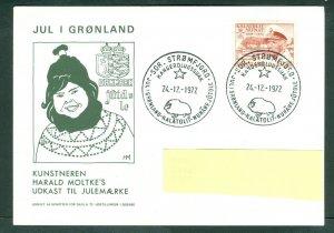 Greenland. Christmas Card,Design. 1972  King 60+10 Ore Sc# B5. Engraver: Slania.