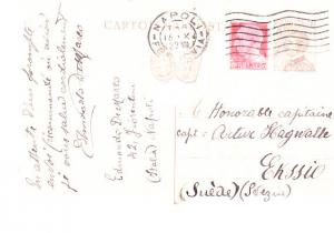 Italy - Uprated Postal Card to Sweden 1929