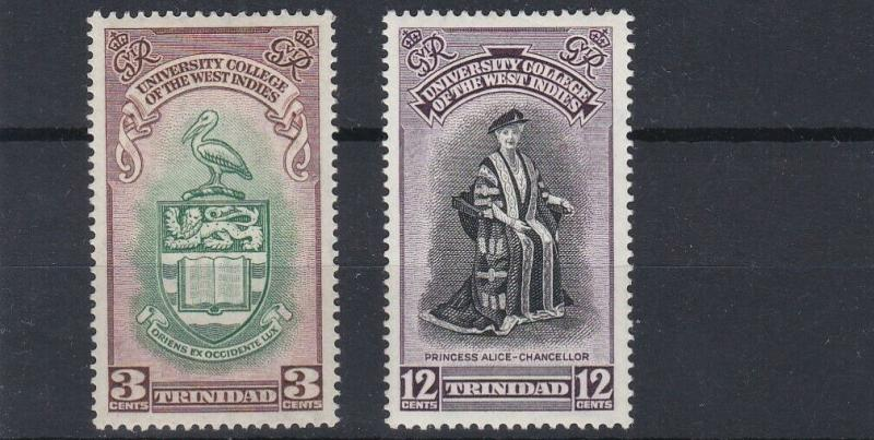 TRINIDAD  1951  B W I UNIVERSITY SET  MH