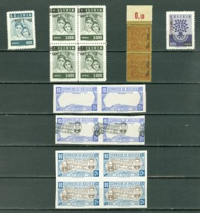 BOLIVIA SCARCE LOT..ERRORS, VARIETIES ...MNH