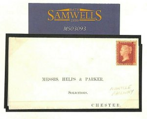 GB WALES Cover *Nantlle Railway* Printed Letter 1860 NARROW GAUGE LINE MS3093
