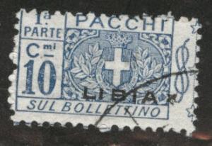 LIBYA Scott Q2 parcel post half used