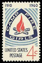 1167 Camp Fire Girls F-VF MNH single
