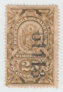 El Salvador Revenue Fiscal stamp 8-31-21-