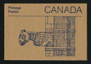 Canada 1187a Booklet BK96a Gargoyle Cover MNH Parliament Buildings