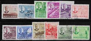 12061   North Borneo 244 - 51, 253, 255, 257 used 2017 SCV $56.25 short set