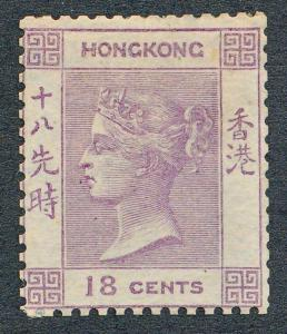 HONG KONG 4 UNUSED, WITHOUT GUM, 18c VICTORIA.