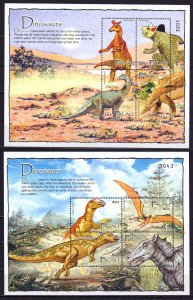 Palau. 2004. 2400-11, bl187-89. Dinosaurs. MNH.