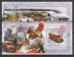 Guinea-Bissau MNH S/S Fire Fighters 2006