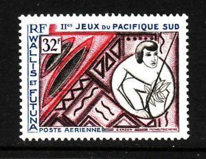 Wallis & Futuna-Sc#C27-unused NH Airmail -Sports-South Pacific Games-1966-