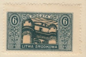 Central Lithuania Mittellitauen Lituanie Lituania 1921 6m MH* A8P11F118