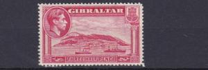 GIBRALTER 1938    S G 123   1 1/2D CARMINE    PERF 14     MH