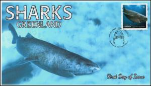 CA18-025, 2018, Sharks, Pictorial, First Day Cover, Greenland
