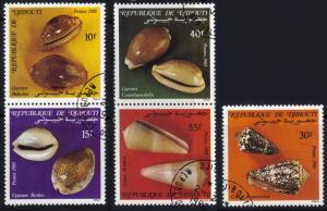 Djibouti #603-07 used cpl sea shells