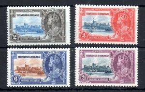 Trinidad & Tobago 1935 Silver Jubilee mint LHM set #239-242 WS14647