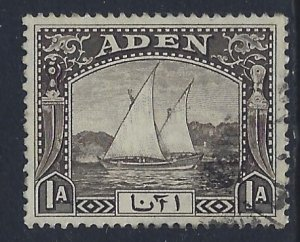 Aden, Scott #3; 1a Dhow, Used