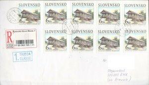 SLOVAKIA 2003 OLD BRIDGE NICE REGIST COVER TO ARTSAKH KARABAKH ARMENIA R2021560