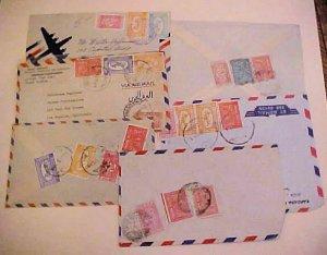 SAUDI ARABIA JEDDAH  6 SMALL COVERS 1950's TO USA